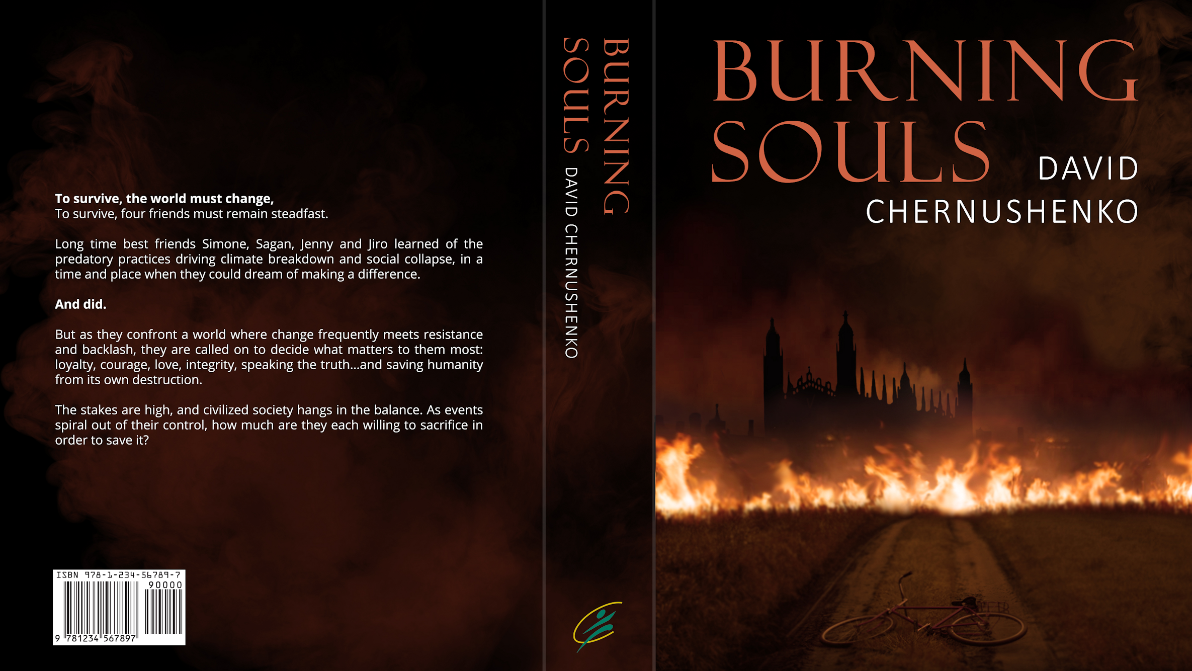 Burning Souls Book Cover 2019 David Chernushenko